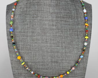 Seed Bead Mix Necklace