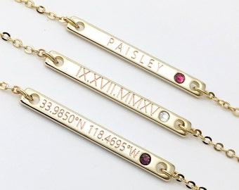 Gold Garnet Necklace - December birthstone Necklace Birth Stone Gemstone Necklace Turquoise Jewelry Aquamarine Garnet Jewelry - 2BSN