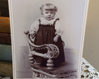 Victorian Child Photograph Old Cabinet Card Floyd Studio Lock Haven Pa Little Girl 1889