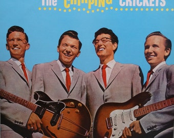 "Buddy Holly and The Crickets – The ""Chirping"" Crickets featuring remastered ""Oh Boy"" 1987 (LP, Album, Vinyl Record ) Rock and Roll Music"