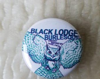 black lodge owl pin button twin peaks david lynch burlesque