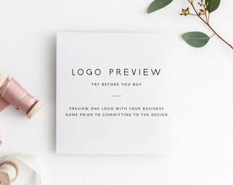 Logo Preview | Try Before You Buy | Preview ONE Logo Design