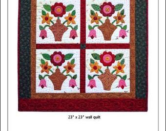 Mixed Bouquet Wall Quilt Pattern