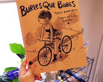 Burlesque Babes - art book - artist sketchbook
