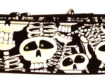 Spooky Skeletons Martingale Collar-