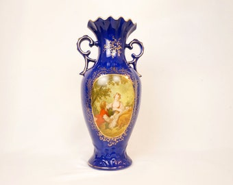 Vintage Courting Couple Vase