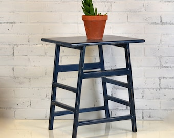 Wooden Side Table in Color of Your Choice Indoor Cottage Nightstand - Plant Stand - Custom Wooden Furniture
