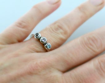 Mothers Day Gift - Mothers Ring - Three Stone Ring - Accent Ring - Family Ring - Birthstone Ring - Gift for Mom - Gift from Kids