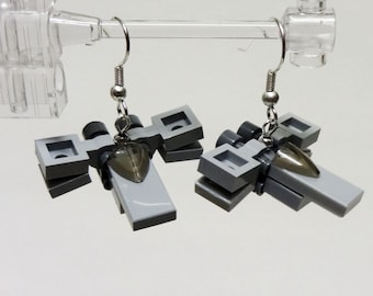 Mini X wing earrings