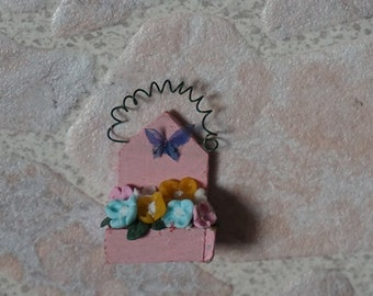 Dollhouse miniature flower stand, scale 1/12