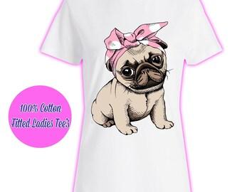 Womans Ladies Girls Tumblr Unicorn Rainbow Pink Glitter Princess Celeb Pug Kids 5 T Shirt