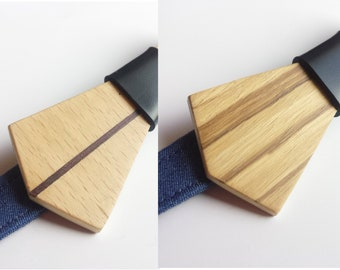 The Zebrawood choco, reversible wooden bowtie