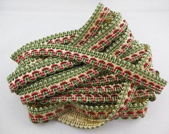 Stripe upholstery green / Burgundy