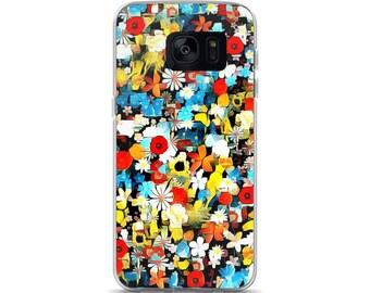 Floral Aqua Samsung Case