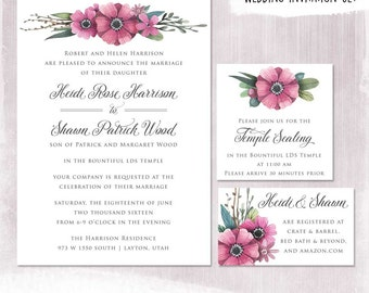 Lds Family Sealing Invitations