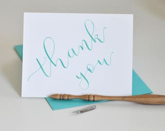 Handwritten Thanks Card | Calligraphy | Not Printed | Wedding Cards | Thank You Card