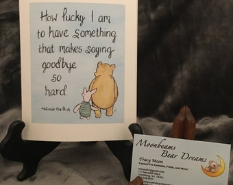 graduation back to school moving going away classic winning the pooh greeting card saying goodbye miss you love you thinking of you
