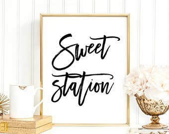 Sweet Station Digital Print Instant Art INSTANT DOWNLOAD Printable Wall Decor