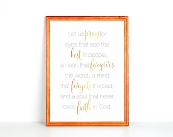 Refrigerator Printable: Let Us Pray