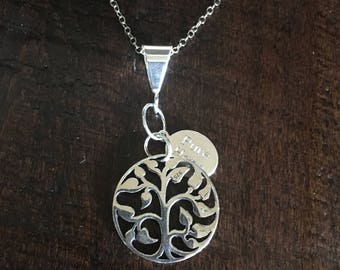 Sterling Silver RECLAIM Pendant Necklace