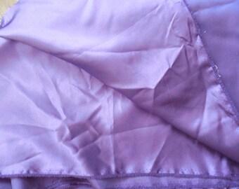 Destash- Royal Purple Satin Fabric Remnant (much darker than picture)