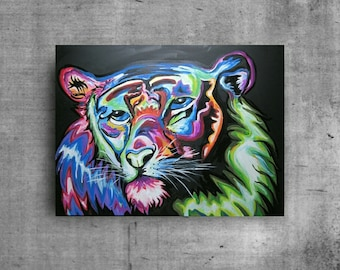 Tiger Painting, Tiger Art, Animal Wall Decor, Animal Painting, Large Painting, Original Painting, Original Art, Tiger Decor, Spirit Animal