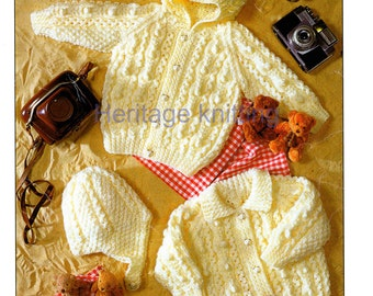 baby aran cardigans and helmet knitting pattern 99p pdf