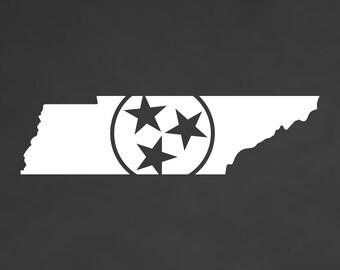 Tennessee Tristar Vinyl Die-Cut Decal Sticker - Car TruckYeti