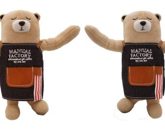 Diary Traveler's Notebook LOG-ON Maunal Factory Bear with Twistable Skeleton (Personalized Name)