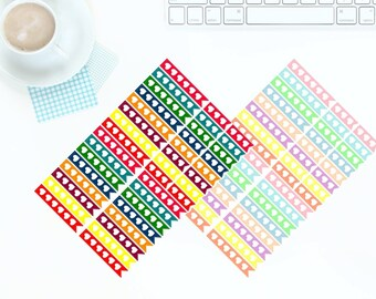 40 Multi-coloured Bright OR Pastel Checklist Stickers for Erin Condren LifePlanner *PREMIUM PAPER!*
