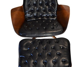 Eames Style Plycraft Chair & Ottoman by George Mulhauser, Mid Century Modern , PA5070, SHIPPING NOT FREE!!!