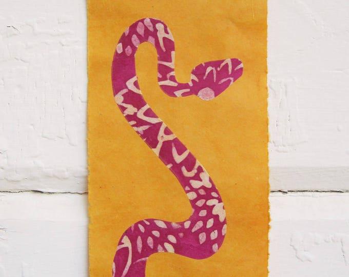 Hot Pink Pit Viper on Marigold