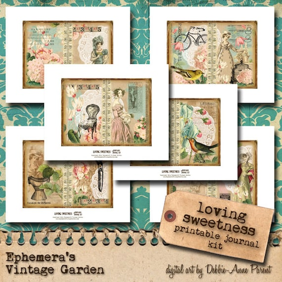 Loving Sweetness - Printable Journal Kit 4x6 Mini