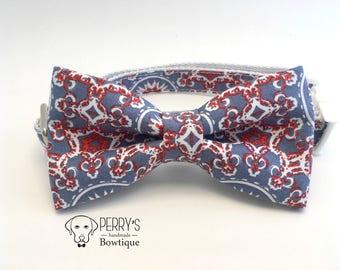 Kaleidoscopic Pattern - Orange Details - Bow Tie and Collar