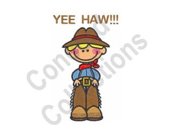 Cowboy - Machine Embroidery Design, Western, Boy, Yee Haw