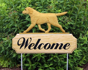 Labrador Retriever Welcome Garden Stake