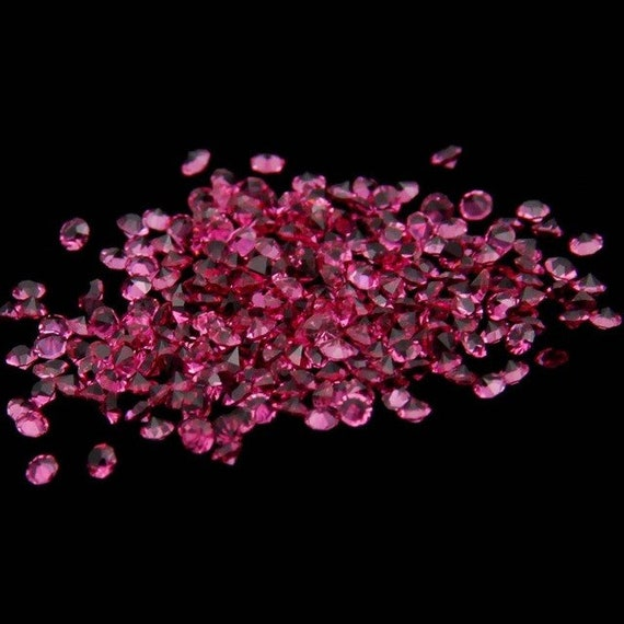 MajorCrafts® 1400pcs 1.1mm Fuchsia Pink Micro Cubic Zirconia Glass Cut Rhinestones C24