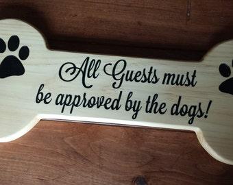 Dog Bone Sign, Dog Bone, Pet Sign, Pet Lover, Custom Wood Sign, Dog Sign, Custom Signs, Personalized Sign