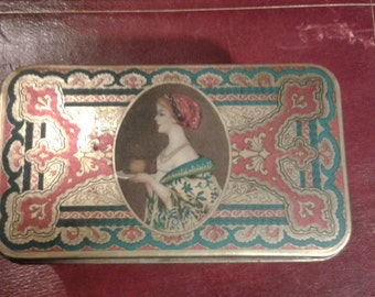 Victorian tin Hostess Fruit Cake  box.