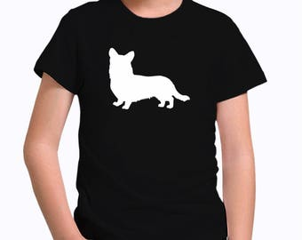 Cardigan Welsh Corgi silhouette Children T-Shirt