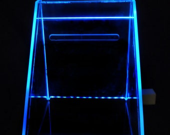 Card Box --- Glowing - Illuminated - Wedding or Bar Mitzvah - personalized with graphic and names