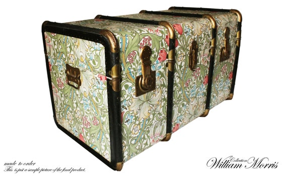 Exclusiva William Morris Wallpaper baúl mesa juguete