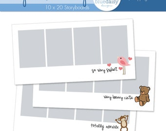 10 x 20 Storyboard Collection - My Cute Baby - Photographer Templates