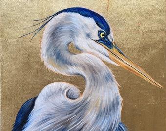 Intrigued Blue Heron