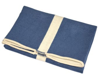 Navy Surfboard Stringer Baby Blanket