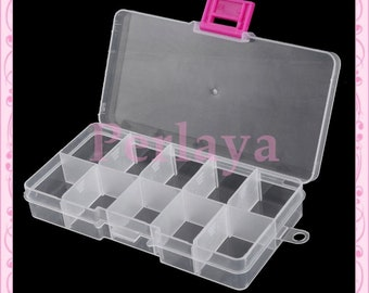 Set of 10 compartments REF2344X2 removable storage boxes