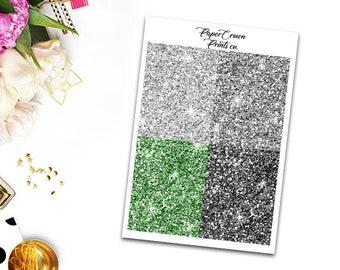 AMBITIOUS Glitter Headers/Planner Stickers for Erin Condren Planner/Happy Planner/Personal Planner/Tn headers kit/Functional Headers