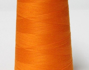 Orange Overlock Poly Thread 6000 Yards