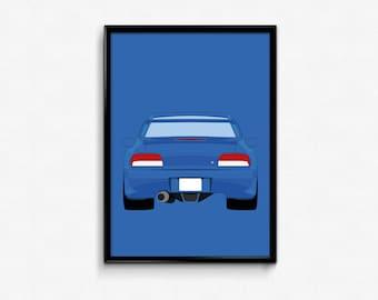 Subaru Impreza 22B A3 Print