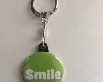 Smile Keychain Handmade Keychain, Happy Keychains, Happy, Positive Words, Motivational Words, Smile